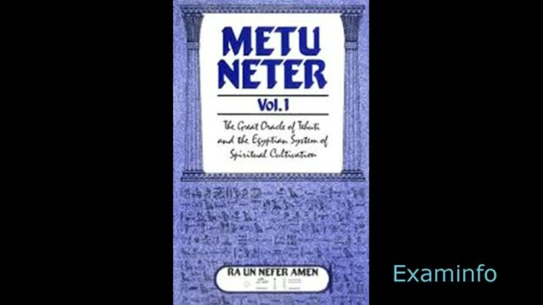 Metu Neter Vol 1 by Ra Un Nefer Amen  /The Spiritual Cultivation of Man/