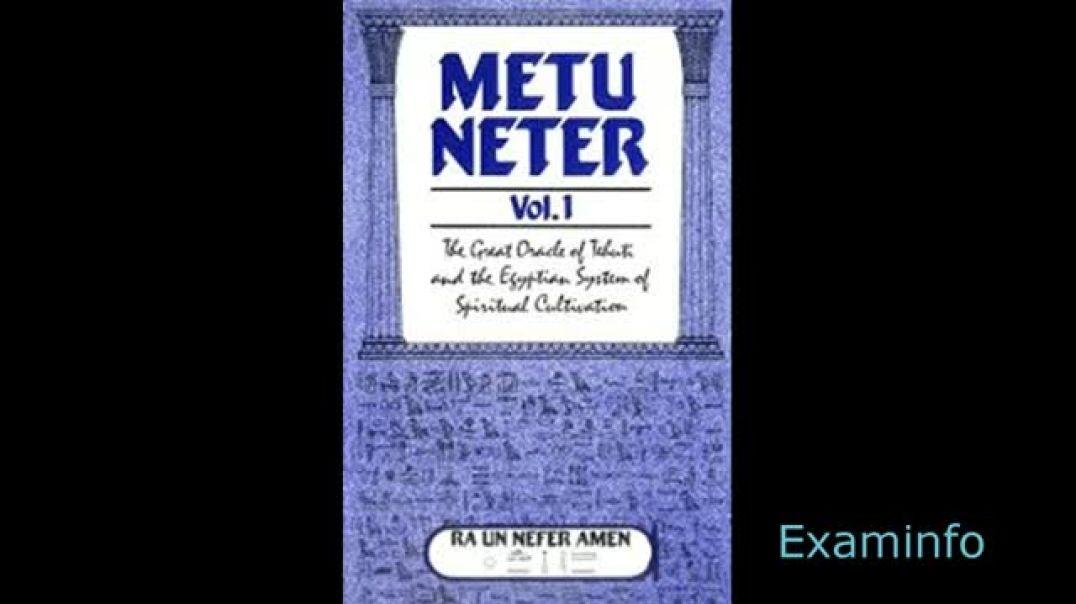 Metu Neter Vol 1 by Ra Un Nefer Amen /Tree of Life Initiation System/