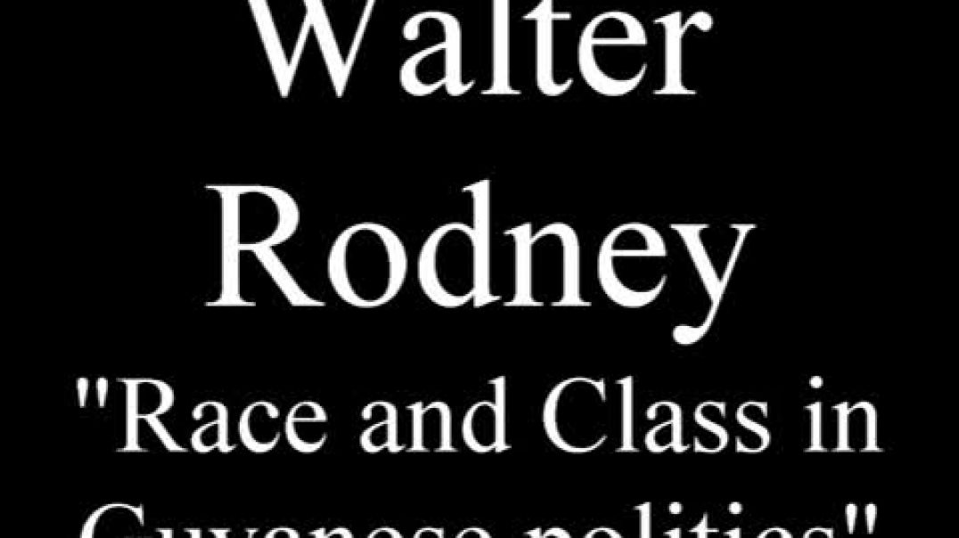 Walter Rodney - Race and Class in Guyanese Politics