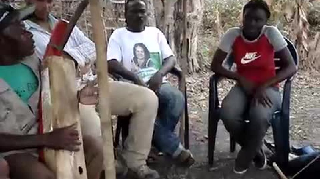 Papa Nziengui playing the Ngombi