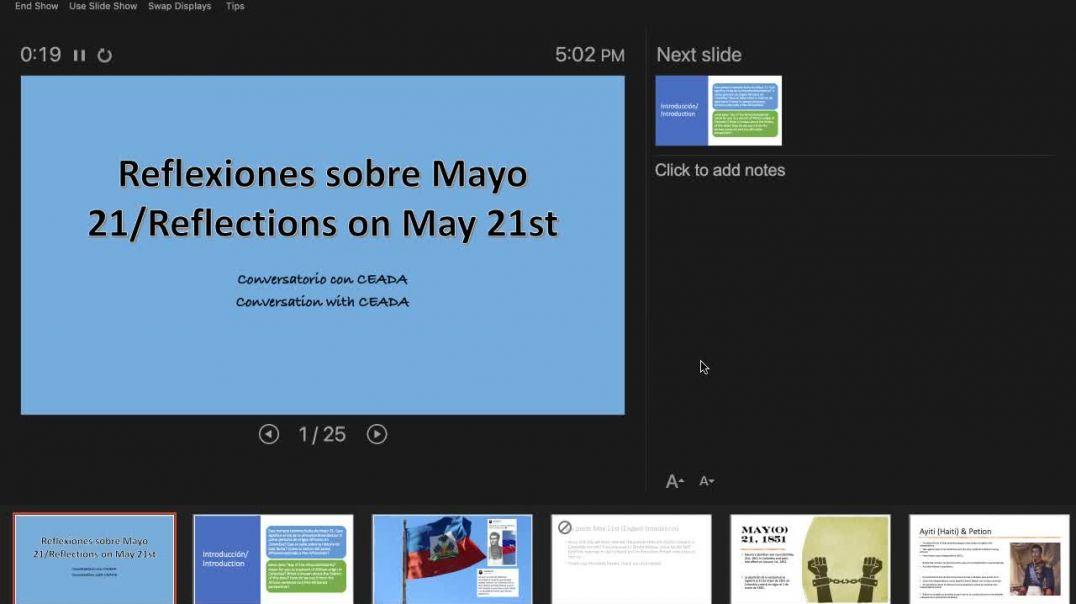 """CEADA- Reflexiones Mayo 21 """"Dia de la Afrocolombianidad"""" (Bilingual) / Reflections May 21s"""