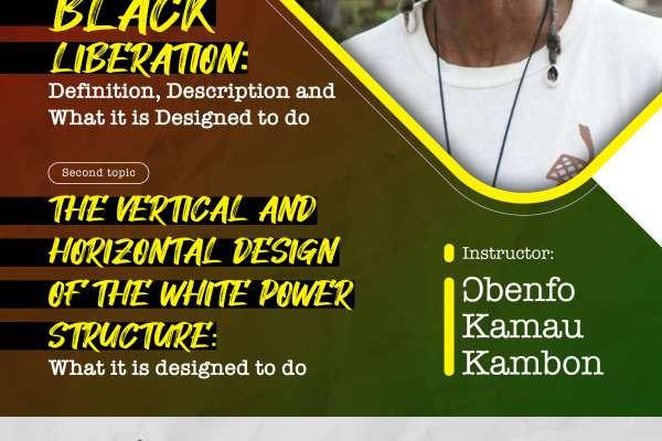 SSS #21 Ɔbenfo Kamau Kambon on Black Liberation vs white power