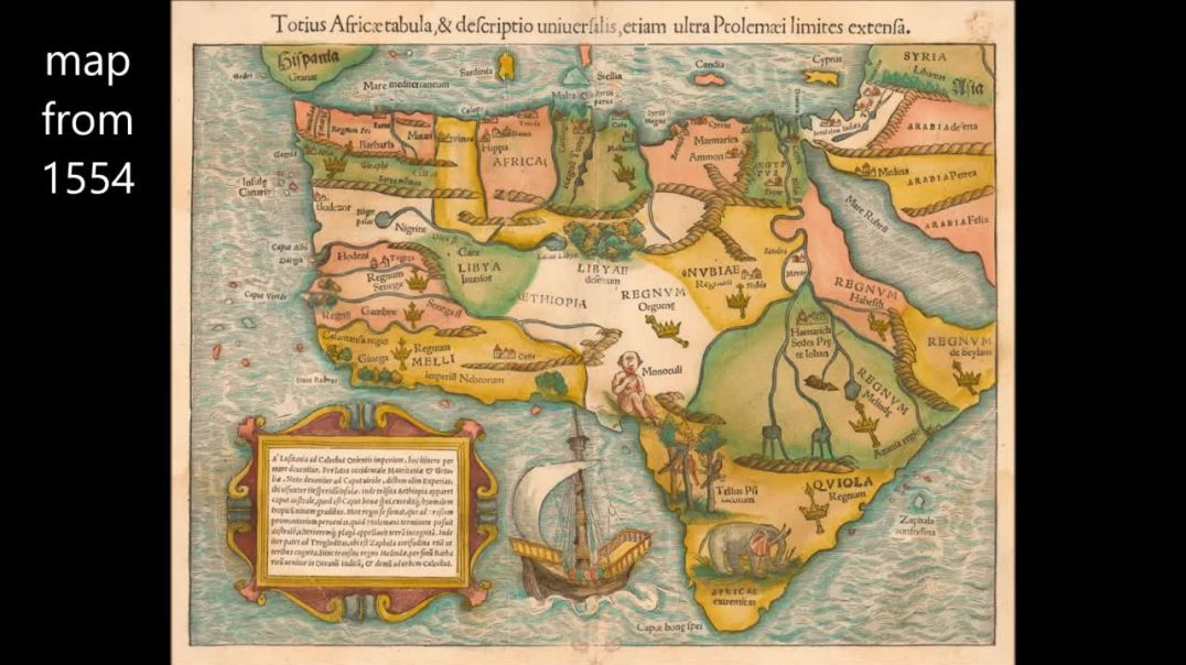 Africa map evolution over 400+ years